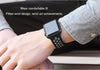 Apple iWatch 42mm Silicone Sport Strap Loop Design Black Grey (Watch not included)
