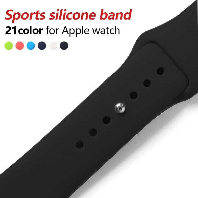 Apple iWatch 42mm Silicone Flexible Sport Strap Matte Black (Watch not included)
