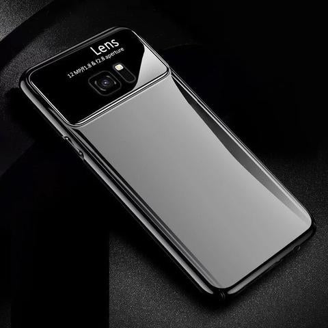 Samsung Galaxy S7 Edge Luxurious Design Half Glass Shockproof Ultra Slim Hard Case