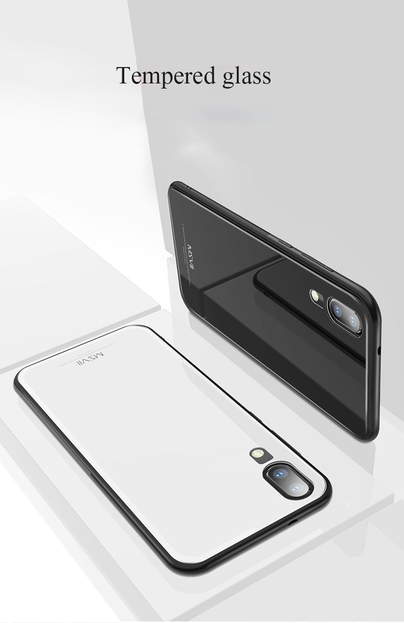 Huawei P20 liteToughened 5D Back Glass Wireless Edition Ultra Slim Case