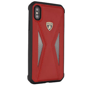 Apple iPhone X/Xs Lamborghini® Limited Edition Carbon Fiber Leather Hard Case