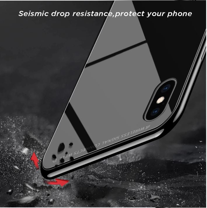 Apple iPhone X/Xs Toughened 5D Back Glass Wireless Edition Ultra Slim Case