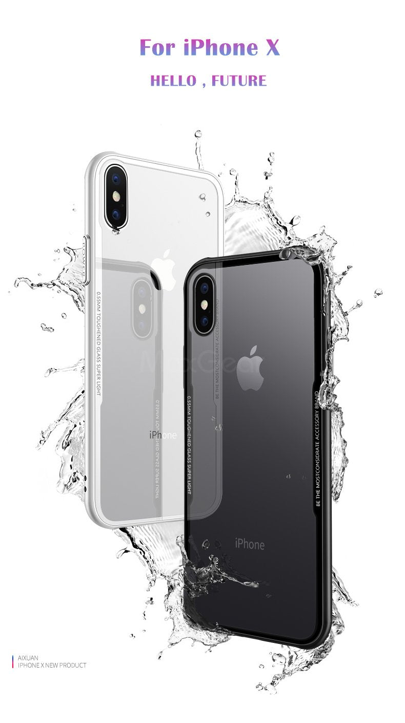 Apple iPhone Xs Max Genuine Toughened Back Glass Wireless Edition Case
