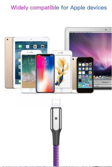 BASEUS X-Shaped Light Zinc Alloy Charging Data Cable For Iphone