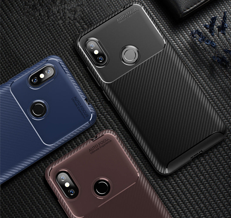Redmi Note 6 Pro Genuine Carbon Fiber Autofocus Protective Shock Proof Ultra-thin Case