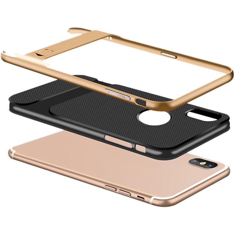 Redmi Note 5 Pro Luxurious Kickstand Full Protection Matte Hybrid Shell
