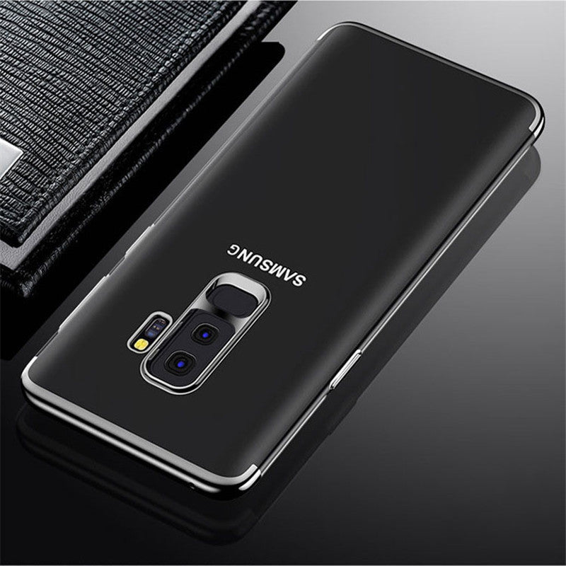 Samsung Galaxy S9 Plus Electroplated Edge Soft Silicone TPU & Anti-scratch Crystal Case