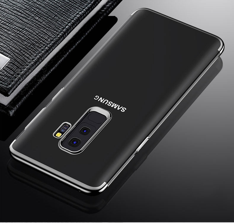 Samsung Galaxy S9 Electroplated Edge Soft Silicone TPU & Anti-scratch Crystal Case