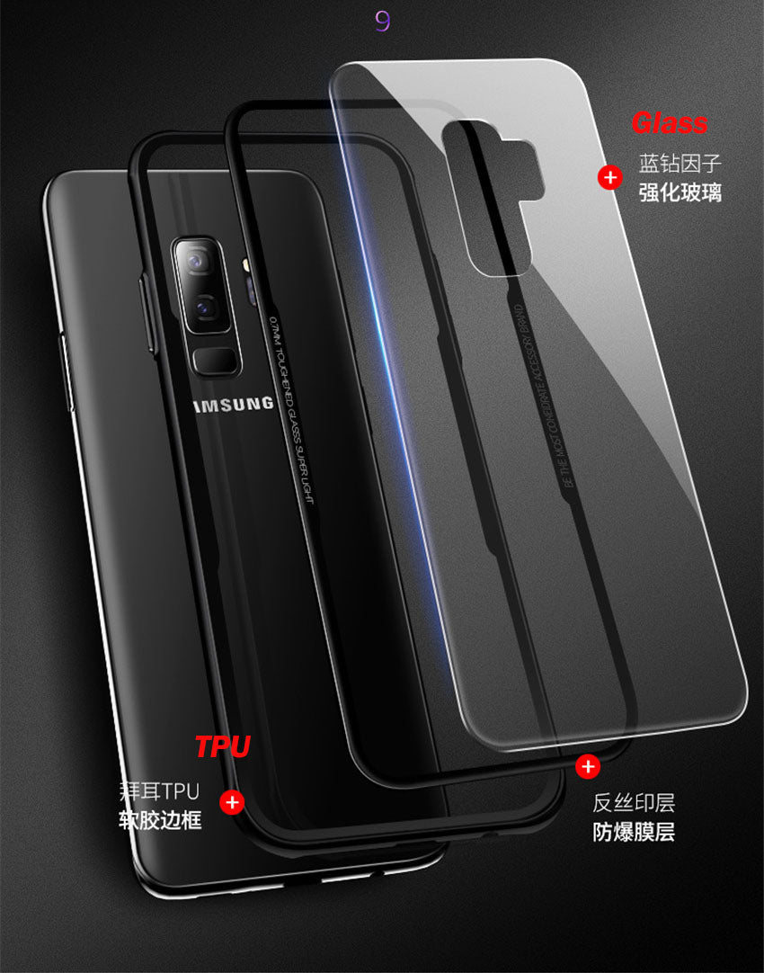 Samsung Galaxy S9 Scratchless Toughened Back Glass Wireless Edition Case