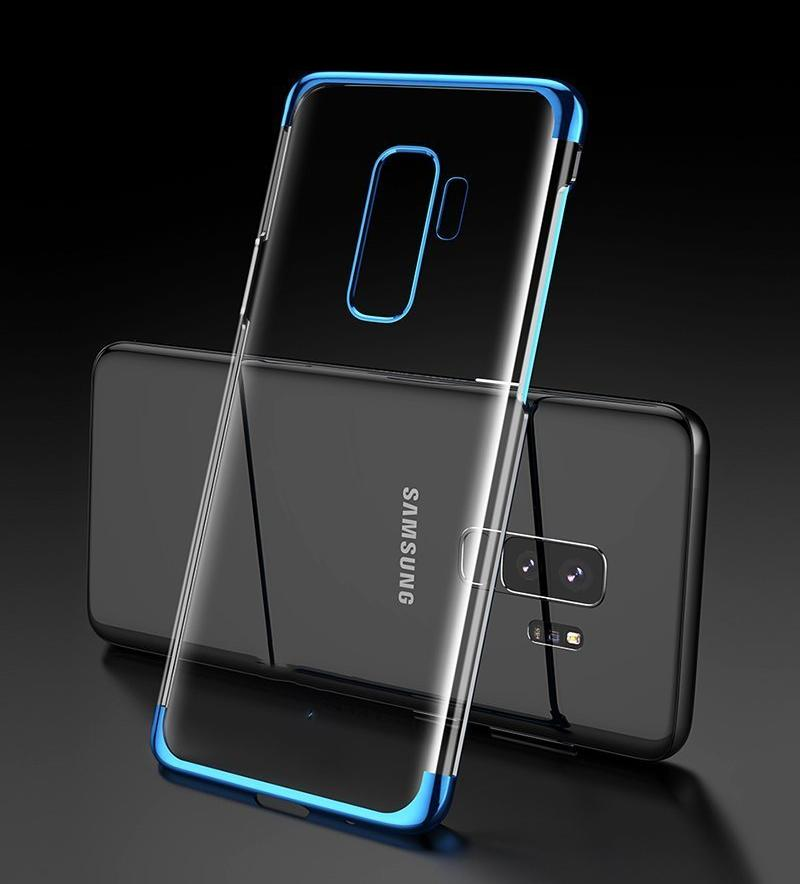 Samsung Galaxy S9 Plus Ultra Thin Transparent Luxurious Glitter Case