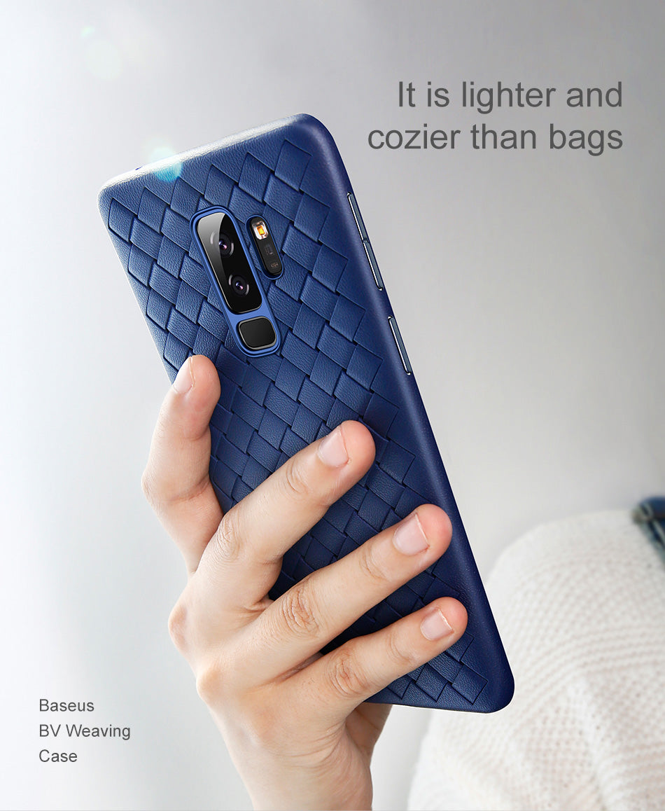 Samsung Galaxy S9 Plus Genuine Ultra Slim Weave Series Soft Case