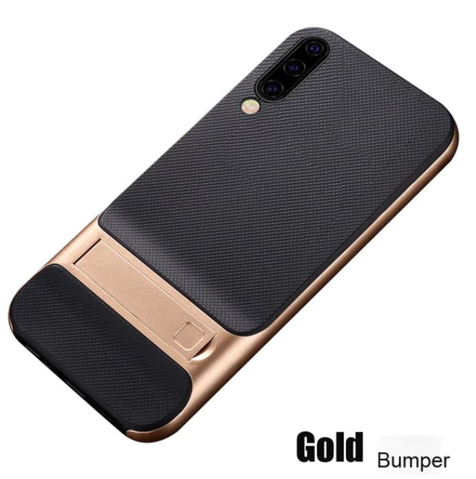Samsung Galaxy A50/A50s/A30s Luxurious Kickstand Full Protection Matte Hybrid Shell