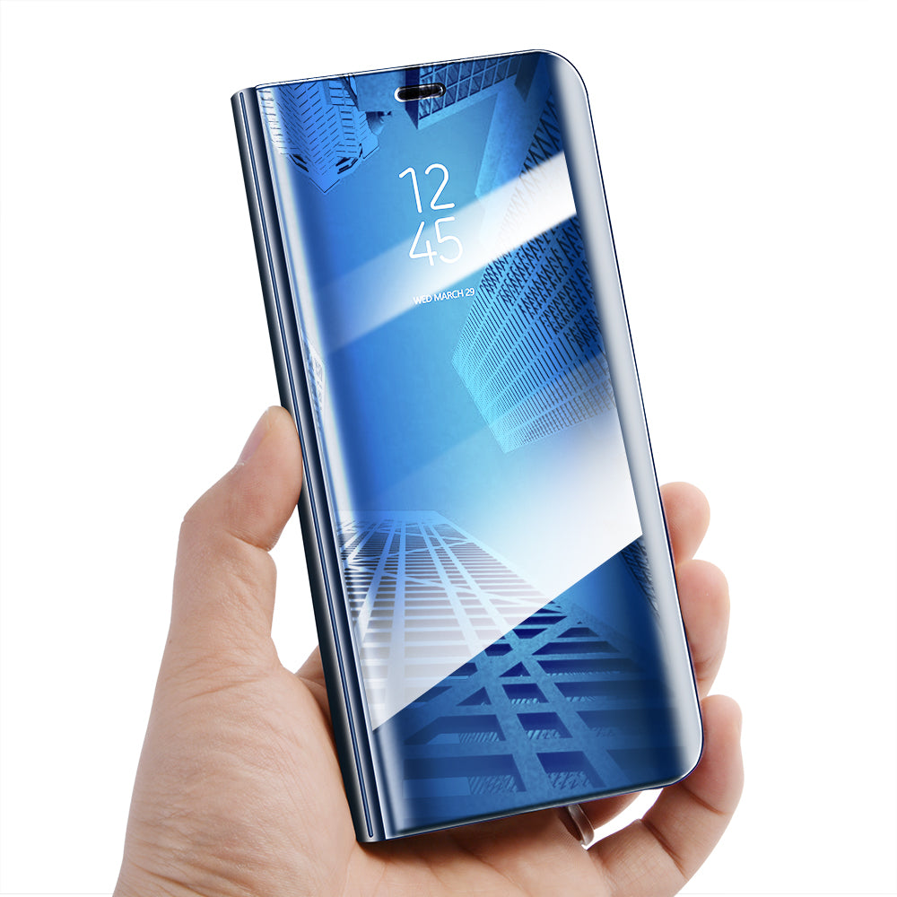 Samsung Galaxy A6 Plus Clear View Dynamic Standing Mirror Flip Cover (Non Sensor Working)