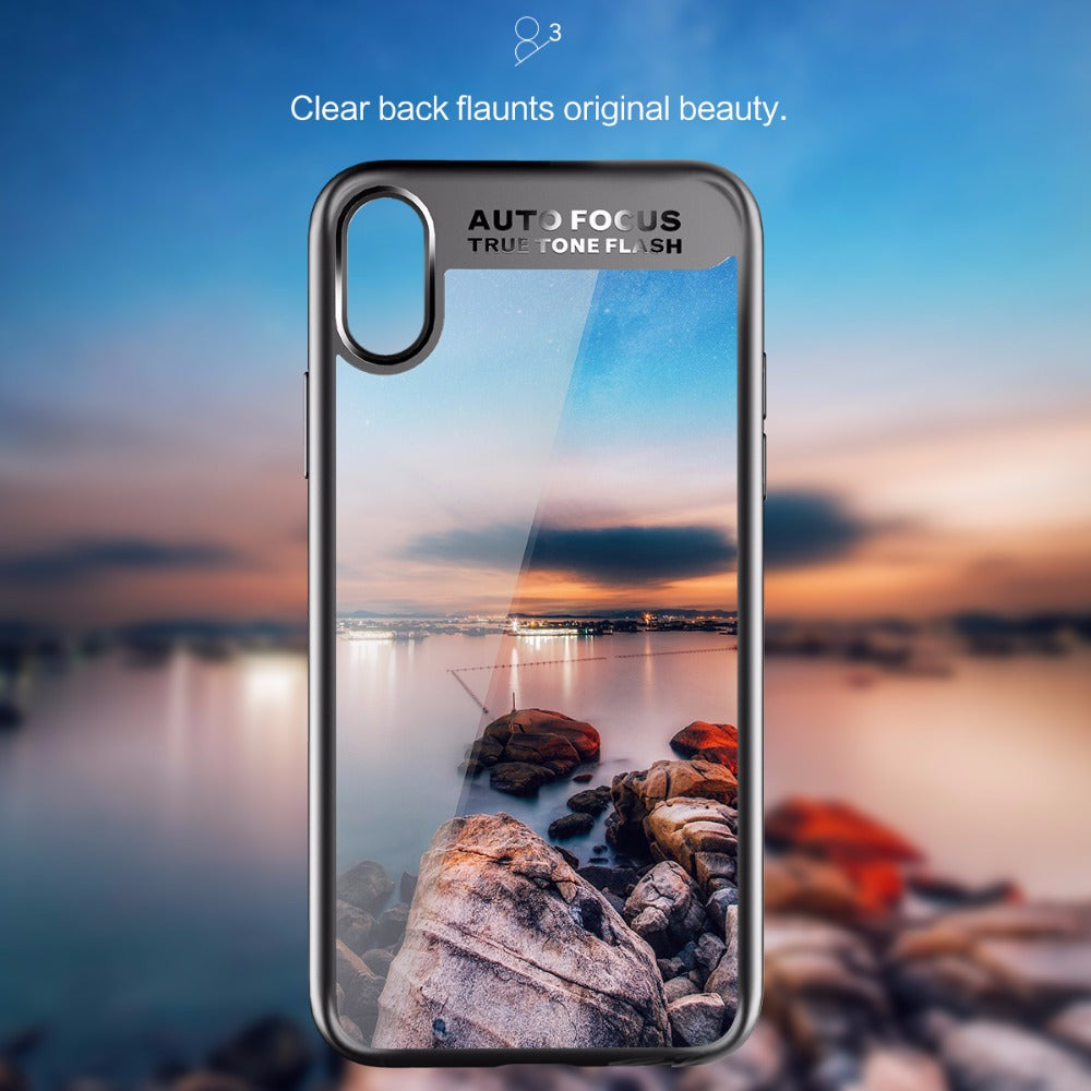 Apple iPhone X/Xs 100% Original Rock Autofocus Naked Through Case