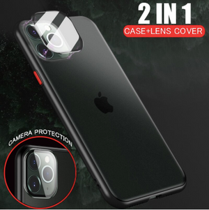 Apple iPhone 11 Pro Max Luxurious 2 in 1 Camera Glass Smoky Matte Armour Case
