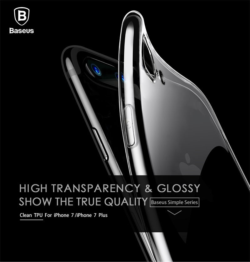 Apple iPhone 7 Plus & 8 Plus Baseus Soft Silicone Ultra Slim Back Cover (Simple Series)