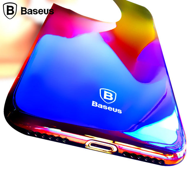 Apple iPhone X/Xs Luxurious Gradient Color Dirt Resistant Transparent Hard Back Cover