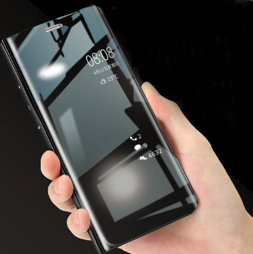 new style ff8e5 0ba46 Apple iPhone XR Clear View Dynamic Standing Mirror Flip Cover (Non Sensor  Working) (with Free 5D Tempered Glass)