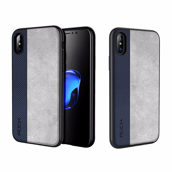 Apple iPhone X/Xs Genuine Rock Half-n-Half Two Tone Leather Case