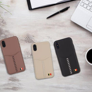 Apple iPhone XS Max Janesper Mentor Series Premium Leather Card Holder Case