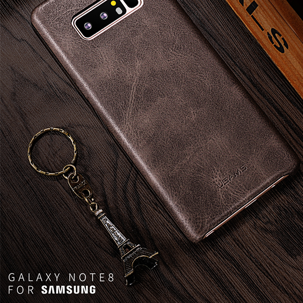 Samsung Galaxy Note 8 Lightweight Original Leather Back Cover- Durable Microfiber Hard Case