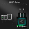 USAMS Multi Device 3 in 1 USB LED Fast Charger For Android/Apple Devices (Limited Stock)