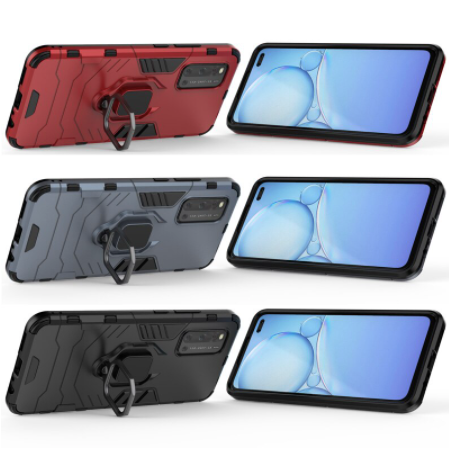 VIVO V19 Shockproof Rugged Iron Man Armour Case With Rotating Magnetic Ring