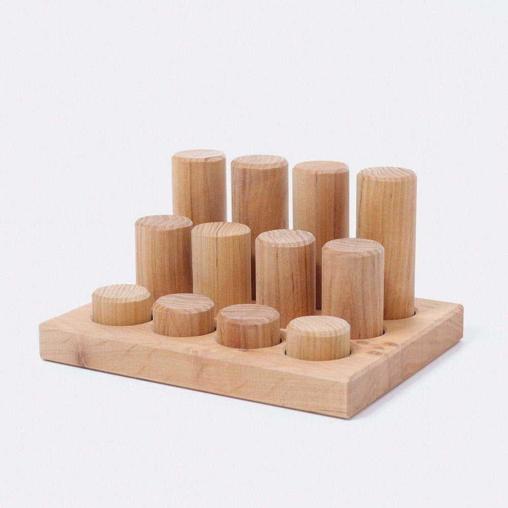 Grimm's Stacking Game Small Rollers Natural