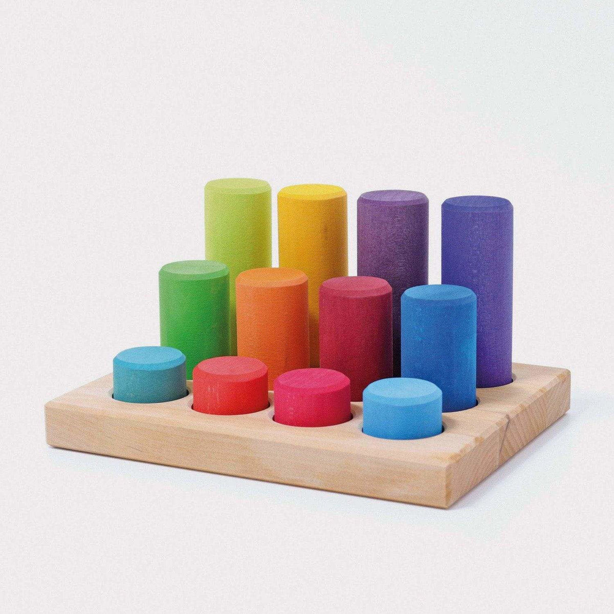 Grimm's Stacking Game Small Rollers Rainbow
