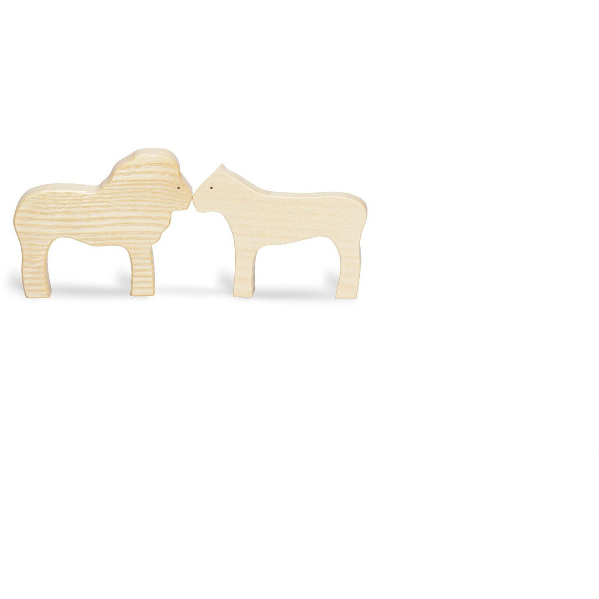 Ocamora Wooden Animal: Lion Pair