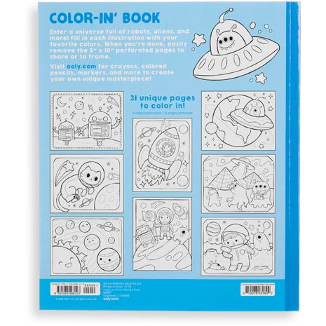 Ooly Color-In' Book: Outer Space Explorers