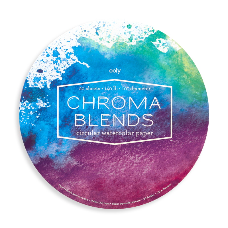 Ooly Chroma Blends Circular Watercolor Paper Pad