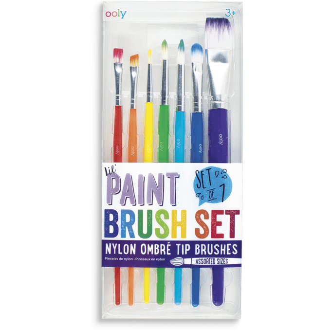 Ooly Lil' Paint Brush Set: Set of 7