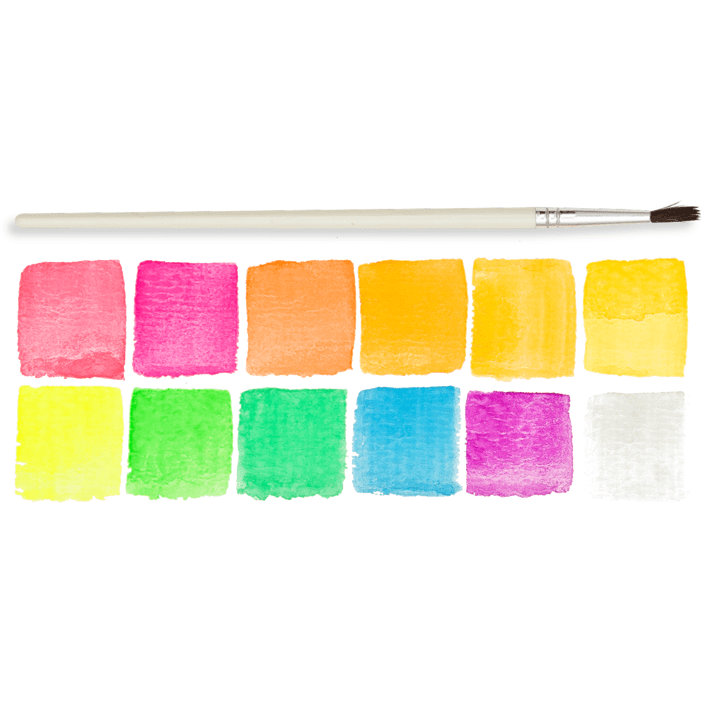 Ooly Chroma Blends Watercolor Paint Set: Neon