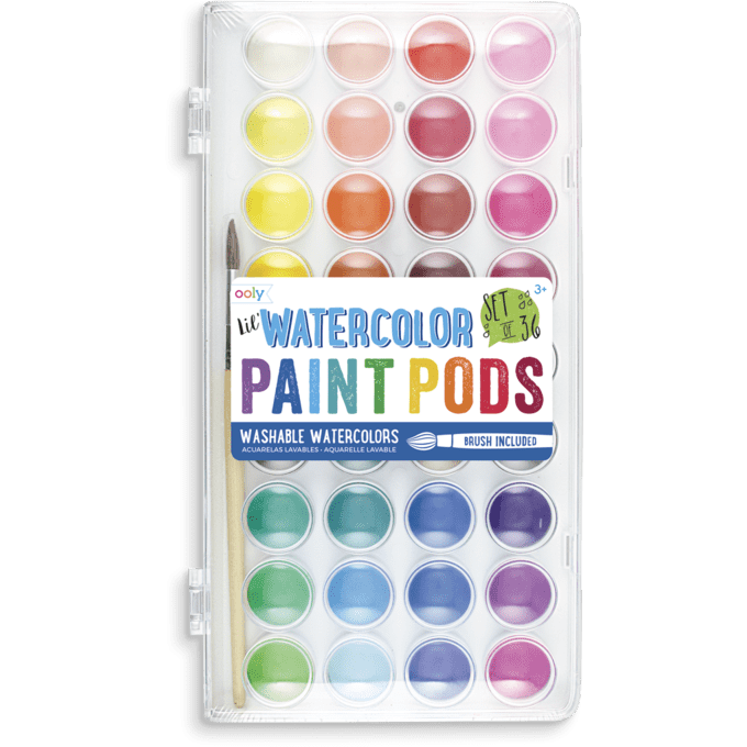 Ooly Lil' Watercolor Paint Pods: Set of 36