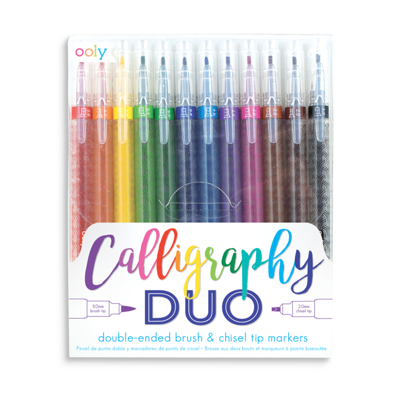 Ooly Calligraphy Duo Chisel & Brush Tip Markers: Set of 12