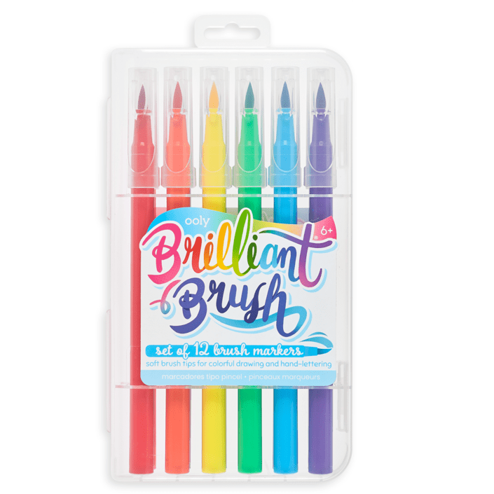 Ooly Brilliant Brush Markers Set of 12
