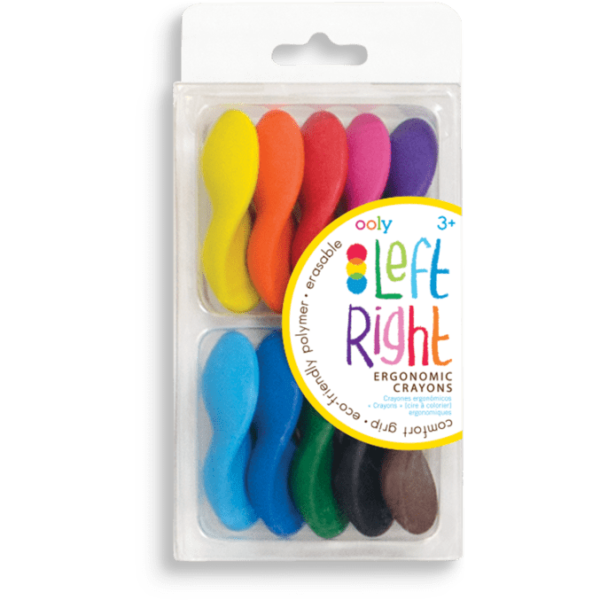 Ooly Left Right Ergonomic Crayons: Set of 10