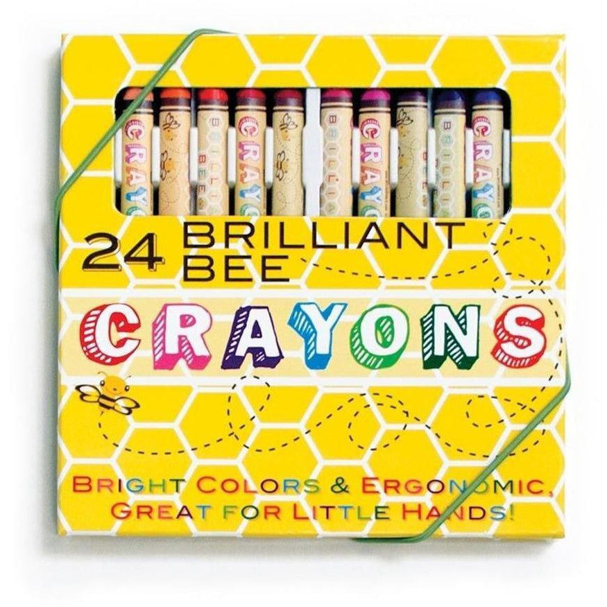 Ooly Brilliant Bee Crayons: Set of 24