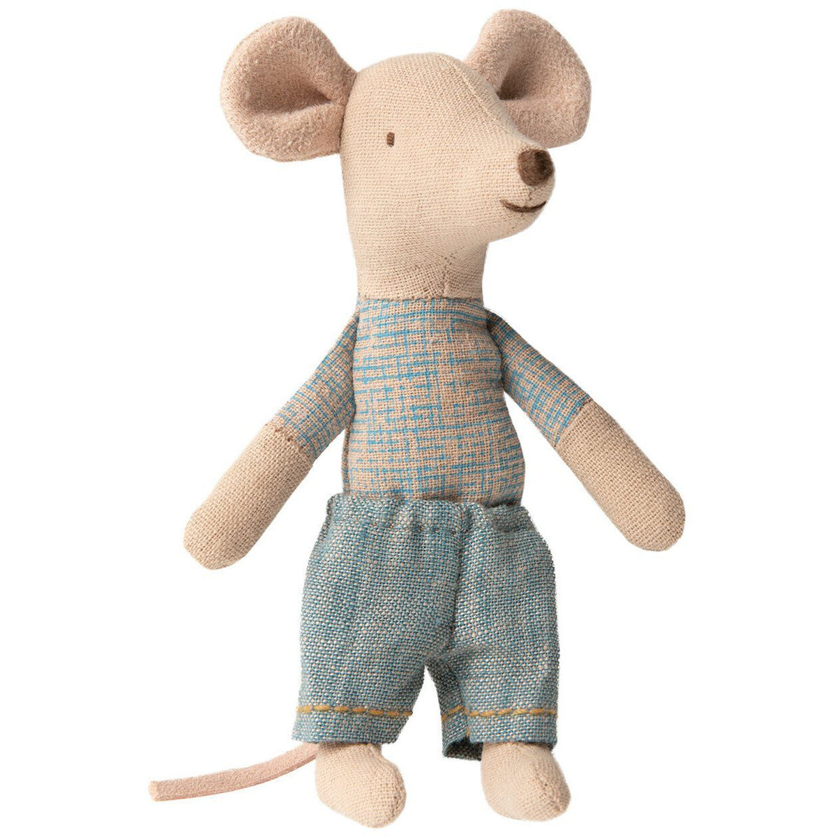 Maileg Little Brother Mouse In Box: Blue Shorts