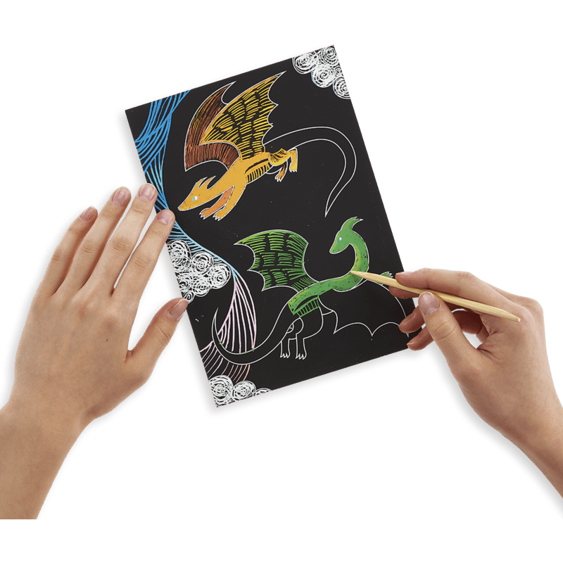 Ooly Scratch & Scribble Art Kit- Fantastic Dragons