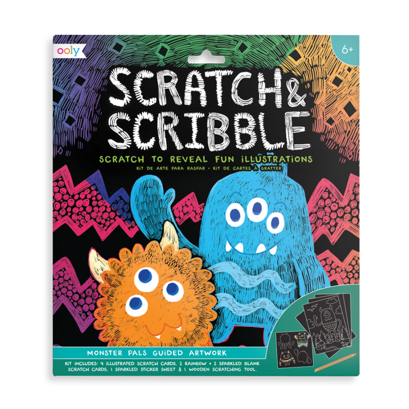 Ooly Scratch & Scribble Art Kit- Monster Pals
