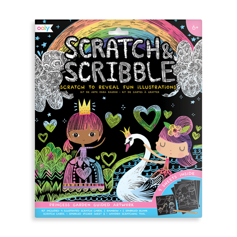 Ooly Scratch & Scribble Art Kit- Princess Garden