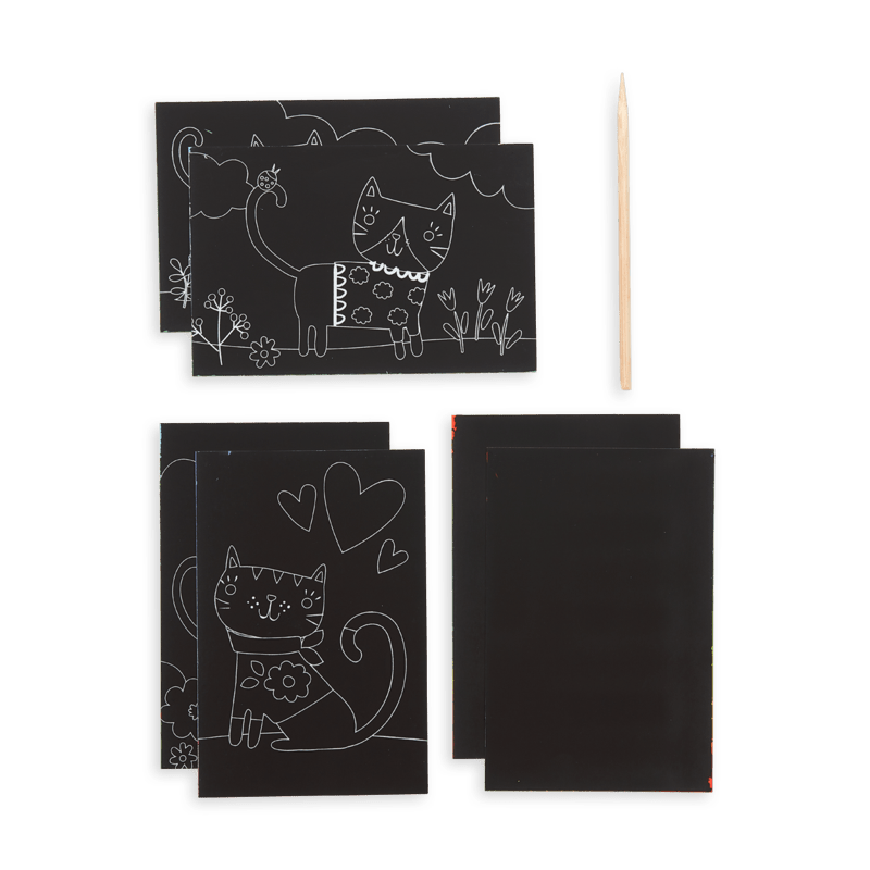 Ooly Mini Scratch & Scribble Art Kit- Cutie Cats