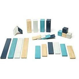 Tegu 24 Piece Magnetic Wooden Block Set: Blues