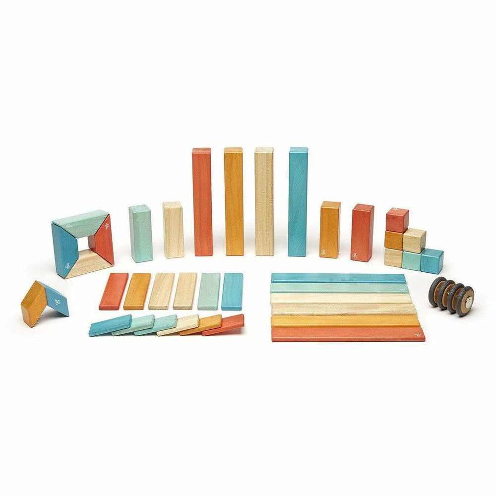 Tegu 42 Piece Magnetic Wooden Block Set: Sunset