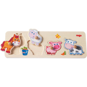 Haba -Baby Farm Animals Clutching Puzzle