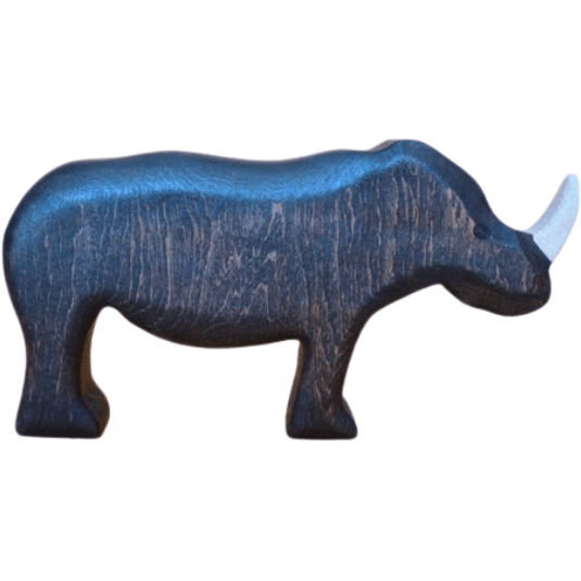 Forest Melody Wooden Rhino