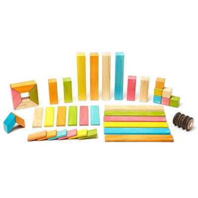 42 Piece Magnetic Wooden Block Set: Tints