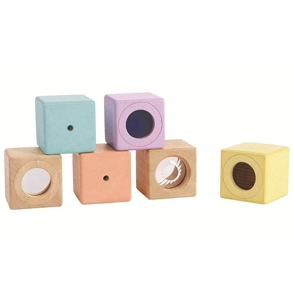 Plan Toys Sensory Blocks - Pastel